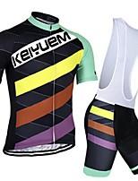 KEIYUEM® Summer Cycling Jersey Short Sleeves + BIB Shorts Ropa Ciclismo Cycling Clothing Suits #K101