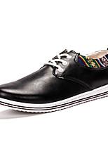 Men's Shoes Casual PU Fashion Sneakers Black / White / Orange