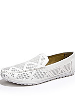 Men's Shoes Casual PU Slip-on Blue / Brown / White