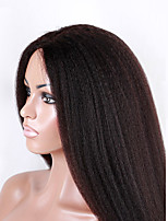 EVAWIGS Unprocessed Brazilian Human Hair Afro Kinky Straight  Full Lace Wig With Baby Hair