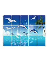 AY3026 Animals Dolphin Wall Stickers Romance / Shapes / 3D Wall Stickers Plane Wall Stickers,pvc 45*75cm