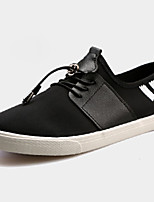 Men's Shoes PU Outdoor / Casual Flats Outdoor / Casual Walking Flat Heel Others / Lace-up Black / Blue