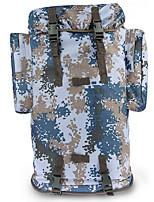 70 L sac à dos Camping & Randonnée Extérieur Multifonctionnel Camouflage Oxford Other