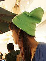 Fluorescent Color Wool Knit Hat Men And Women Hip-hop Head Cap Candy Color Hedging Cap