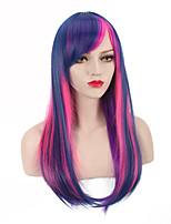 modèle le plus vendu de cos poney bao li l'anime violet perruque cosplay