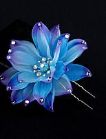 Dame Stoff Headpiece-Bryllup / Spesiell Leilighet Blomster 1 Deler Multi-farge Rund Free
