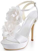 bayan ayakkabıları ipek ince topuk topuklar / peep toe topuklu düğün / parti&akşam / elbise beyaz / kırmızı / mavi
