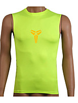 Corsa Completo di compressione / Canotte / Felpa Per uomo Senza maniche Traspirante / Asciugatura rapida / Compressione Fitness / Corsa