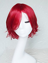 Cosplay Wig Colour Red Cartoon Characters Become Warped Wig 10 Inch