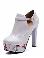 Women's Spring / Summer / Fall Heels Leatherette Wedding / Dress / Casual / Party & Evening Stiletto Heel Black / White
