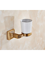 Toothbrush Holder / Brushed / Wall Mounted /15*10*12 /Brass /Antique /15 10 0.52