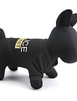 Gatos / Cães Camiseta Preto Verão Polícia / Militar Da Moda-Other, Dog Clothes / Dog Clothing
