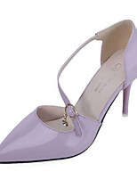 Women's Shoes PU Summer Heels Heels Casual Stiletto Heel Others Black / Purple / White