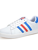 Men's Shoes PU Athletic Sneakers Athletic Sneaker Flat Heel Lace-up Black / Blue / White