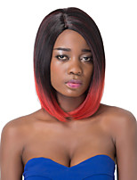 European Vogue Short Sythetic Red Mix Black Party Wig For Women
