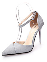 Women's Shoes Leatherette Summer Heels Sandals Office & Career / Party & Evening / Casual Stiletto Heel Bowknot
