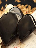 Women-Casual-PU-Cosmetic Bag-Black