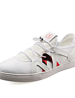 Men's Sneakers Spring / Fall Round Toe Tulle Outdoor / Casual / Athletic Flat Heel Others Black / White