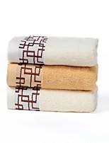 Ensemble de serviette de bain-Jacquard- en100% Coton-75*35cm(29