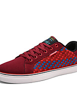 Men's Board Shoes Casual/Travel/Outdoor Fashion Suede Leather Woven Shoes EU39-EU44
