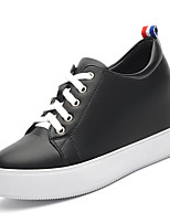 Women's Shoes Synthetic /Tulle Spring/Fall /Winter Creepers Sneakers Athletic /Casual Platform Lace-up Black/White