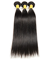 3 pezzi dritto Tessiture capelli umani Indiano Tessiture capelli umani dritto