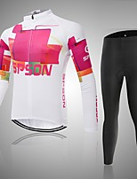 Sports Cycling Tops Women's Bike Breathable / Wearable / Comfortable Long Sleeve Stretchy Polyester