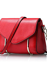 Women-Formal-PU-Shoulder Bag-Red