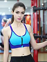 Women's Yoga Fitness Full Coverage Zip Bras,Wireless / Racerback / Sports Bras Nylon