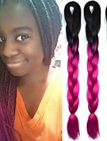 Rose Gehäkelt Jumbo Haarverlängerungen 24 Kanekalon 1 Strand 100g Gramm Haar Borten