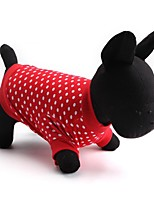 Chat / Chien T-shirt Rouge Printemps/Automne Pois Mode-Other, Dog Clothes / Dog Clothing
