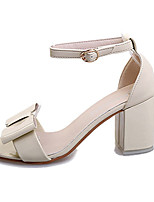 Women's Sandals Summer Sandals PU Casual Chunky Heel Buckle Pink / White / Gray / Beige Others