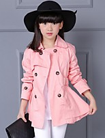 Girl's Casual/Daily Solid Suit & Blazer,Faux Fur / Cotton Winter / Spring / Fall Pink / Gray