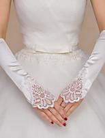 Opera Length Fingerless Glove Polyester Bridal Gloves