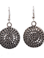Personality Retro Folk Style Hollow Carved Spherical Earrings