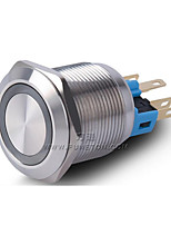 Industrial Supplies Stainless Steel Ring Angel Eyes LED Push Button Switch With Light 22MM