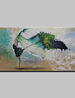 Hand Painted Modern Abstract Girl Oil Paintings On Canvas Wall Art Picture With Stretched Frame Ready To Hang 70x140cm