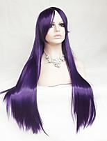 violet perruque cosplay longs cheveux raides fil à haute température de 30 pouces