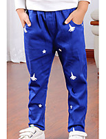 Boy's Casual/Daily Print Pants,Cotton Summer / Fall Blue / Yellow