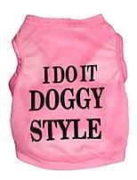 Katzen / Hunde T-shirt Schwarz / Blau / Rosa Sommer Blumen / Pflanzen Modisch, Dog Clothes / Dog Clothing-Pething®