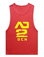 Men's Fashion Sexy Colorful Printed low Split Sport Breathable Vest