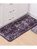 Printing And Dyeing Flannel Carpet Mats Mat Strip Bathroom Kitchen Carpet Washing Machine Washable