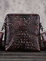 Men-Casual-Cowhide-Shoulder Bag-Brown