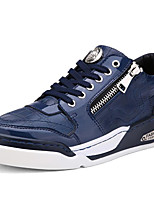 Men's Shoes Patent Leather Athletic / Casual Sneakers Athletic / Casual Basketball Flat Heel Black / Blue/White