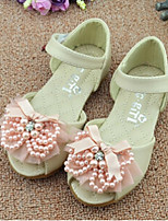 Girls' Shoes Outdoor / Casual Faux Leather Summer Comfort / Sandals Pink / White