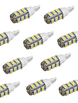 10pcs T10 25 SMD3528 White Color Car LED Bulbs Lights (DC12V)