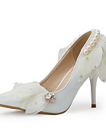 Women's Shoes Stiletto Heel Heels / Pointed Toe Heels Wedding / Party & Evening White