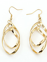 Earring Geometric Jewelry Women Fashion Wedding / Party / Daily / Casual Alloy / Silver Plated / Gold Plated 1 pair Gold / Silver