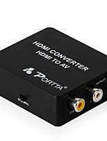 PORTTA Mini HDMI To AV Converter With signals to digital high-definition transfers power supply