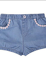 Girl's Casual/Daily Striped Shorts,Cotton Summer Blue
